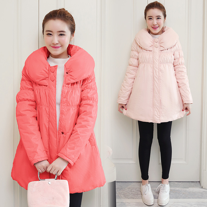 2017 fashion Korean version of loose pregnant women cotton thick winter coat thicker pregnant women dress new fashion korean version fall