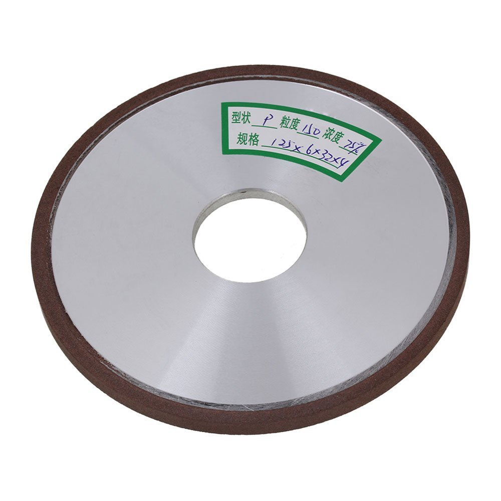 150# Grit Flat Disc Straight Silver 125x6x32mm Diamond Aluminum Resin Grinder Grinding Wheel With