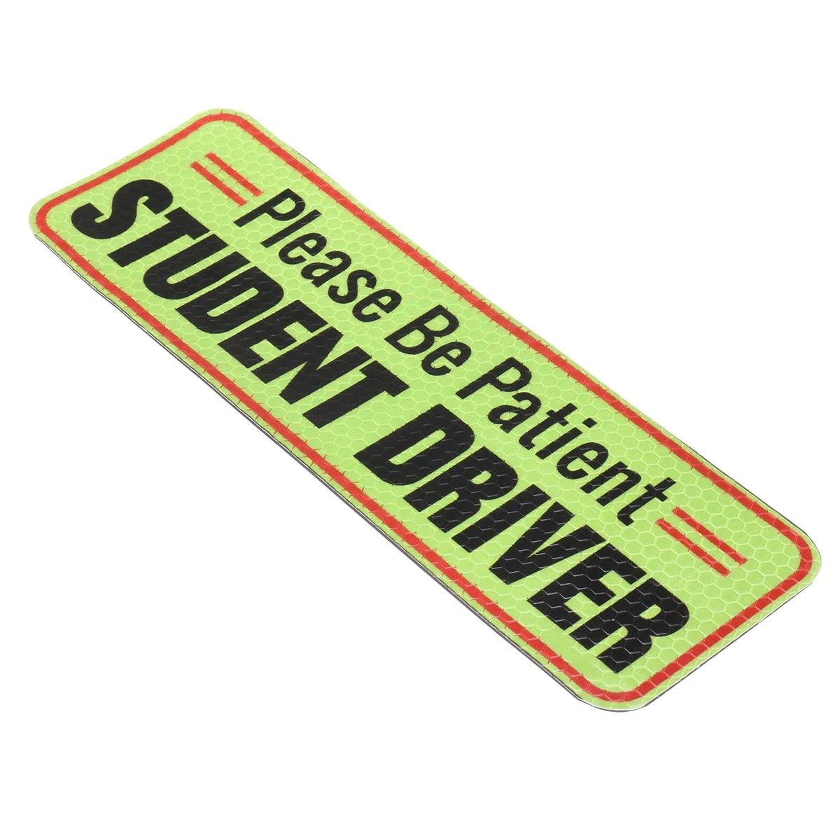 Новый safurance Магнитная будьте терпеливы студент водитель бампер Предупреждение знак 10x3.2 25x8 см на рабочем месте детская безопасность