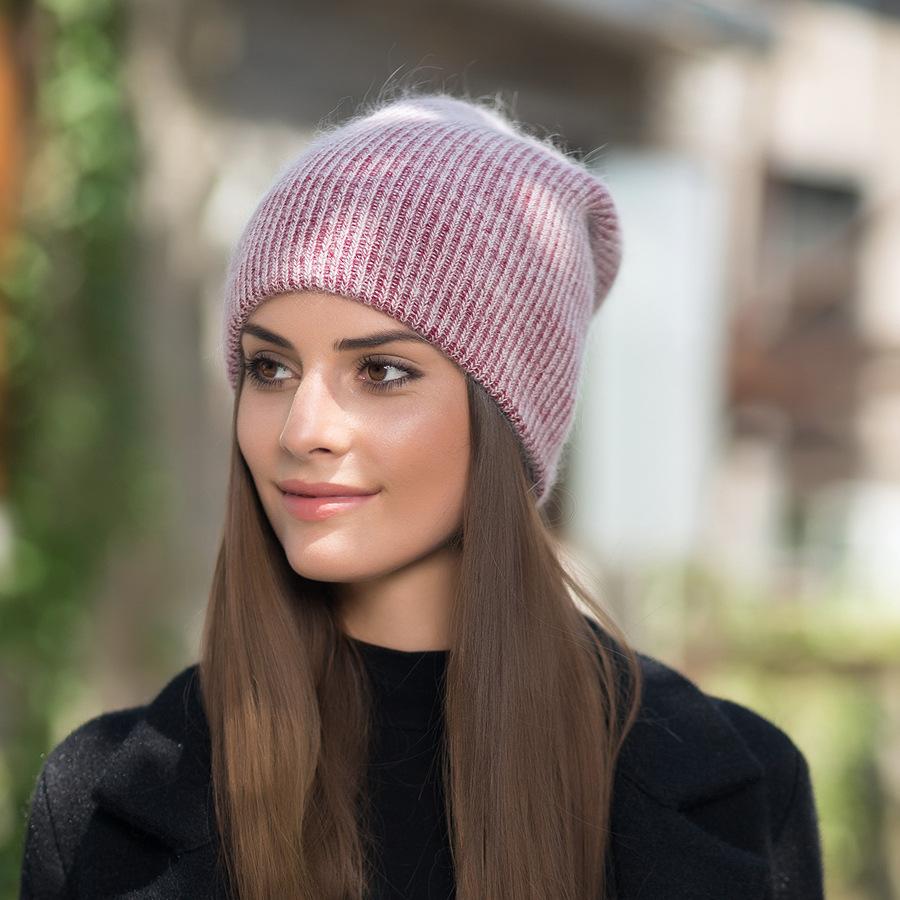 2017 New Autumn Winter Beanies Hats For Women Knitting Warm Wool Skullies Caps Ladise Hat Pompom Gorros (14)