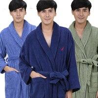 Cotton Bathrobe Men Sleepwear Women Bathrobe For Girls Blanket Towel Thickening Lovers Long Soft Plus Size