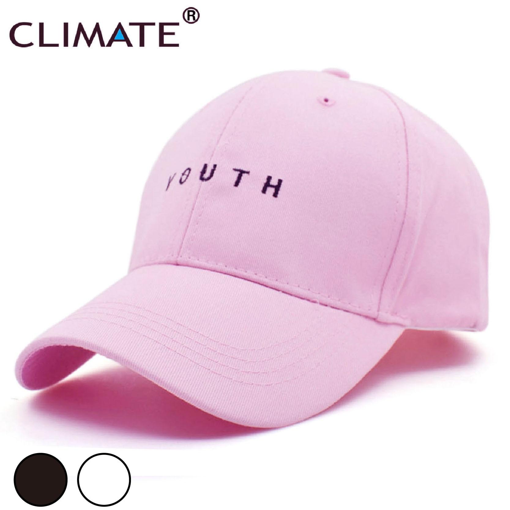 65fd8f712dfc CLIMATE New Youth carta gorras de béisbol logotipo juvenil niños niñas  Negro gorra caliente hombres papá sombrero mujer Snapback HipHop los ...