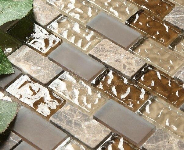 Piedra de m rmol backsplash de la cocina sgmt075 ladrillo - Cocina con pared de cristal ...