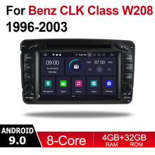 2 Din Car Multimedia Player Android Auto Radio For Mercedes Benz CLK Class W208 1996~2003 NTG DVD GPS 8 Cores 4GB 32GB Bluetooth цена
