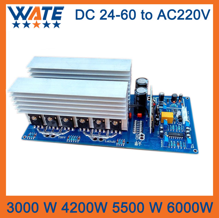 3000W 4200W 5500W 6000W DC 24V/48V60V to AC 220V pure sine inverter board /frequency inverter board Backup Power