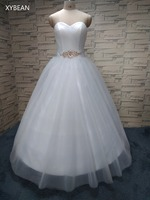 Free Shipping 2015 New Arrival Bridal White Ivory Wedding Dress Bridal Gown Custom Size 4 6