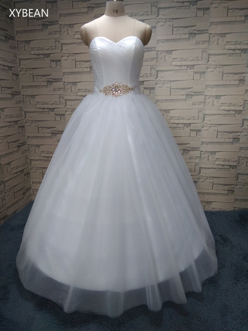 Free shipping 2018 new arrival bridal white ivory wedding for Wedding dress free shipping