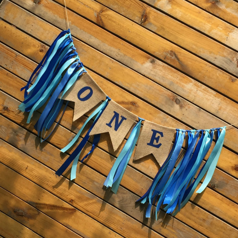 Ribbons and Sapphire Flags Wedding Room Layout Birthday Party Decorations Festival Banner in Banners Streamers Confetti from Home Garden