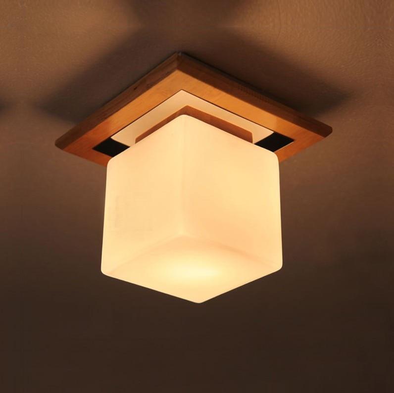 Lmpara de techo de madera vintage cuadrado bar americano breve nio
