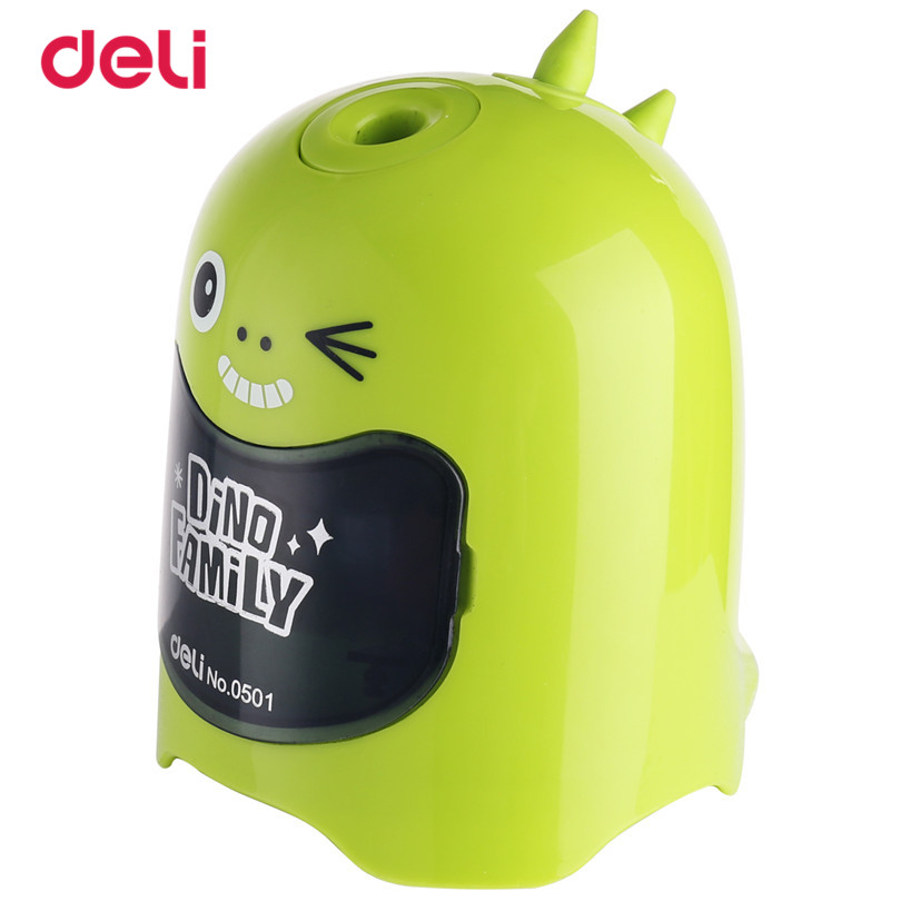 Deli Cute Automatic Pencil Sharpener School Stationery Electric Pencil Sharpener Creative Students Office Supplies 40D0501 2016 new affordable electric pencil sharpener automatic desktop school stationery office kids