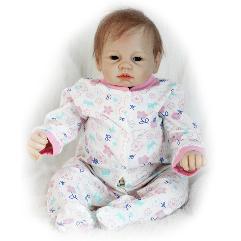 22 55cm Real Newborn Dolls Handmade Baby Girls Doll Lifelike Soft Silicone Vinyl Reborn Dolls Toys for Children Birthday Gifts 23 real baby dolls handmade full silicone reborn doll alive soft vinyl baby princess dolls toys for girls children kid gifts