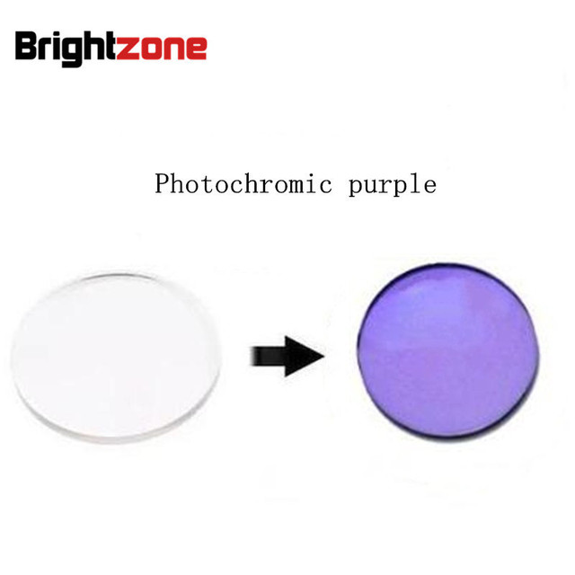 20807cd4a2 Clear Quick Change Lenses 1.56 Photochromic Purple HMC UV AR CR39 resin eyeglasses  prescription lenses only myopia  astigmatism