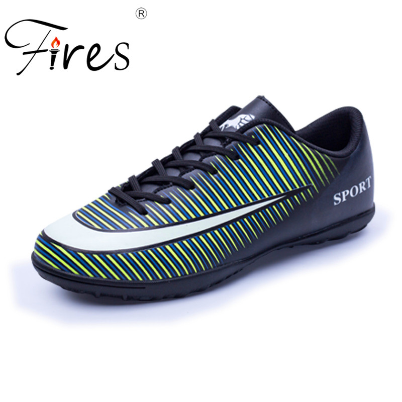 Fires Man Soccer Shoes Outdoor Turf Football Shoes Adults Boy Kid Hard Count Trainers Sports Sneakers Shoes Zapatos De Futbol