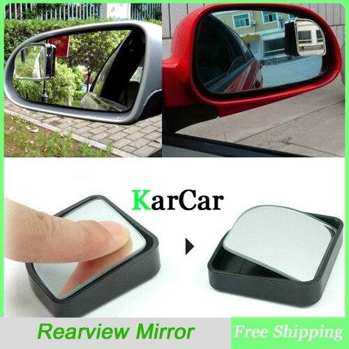 1 пара прочное нажимное выпуклое зеркало заднего вида для автомобиля, широкоугольное Секторное регулируемое Автомобильное Зеркало для слепых пятен черного цвета