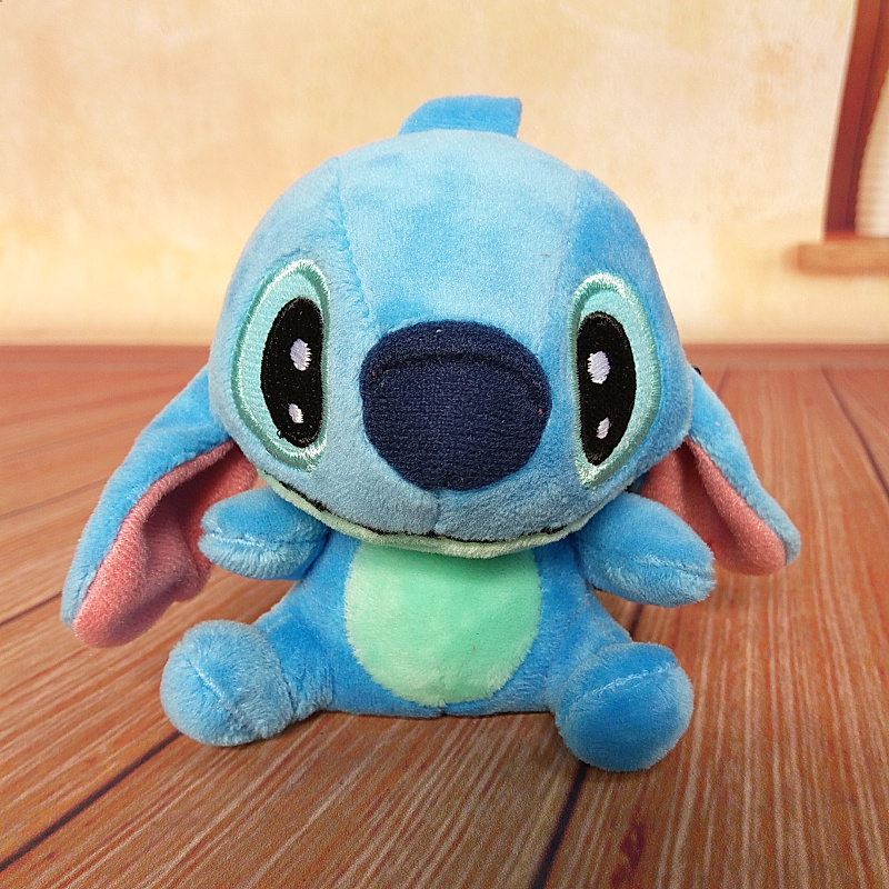 Cartoon Lilo & Stitch Anchor Keychain Keyring Trendy Bag Accessories Charm Pendant Mini Plush Stuffed Animal Toy Keychains Gift