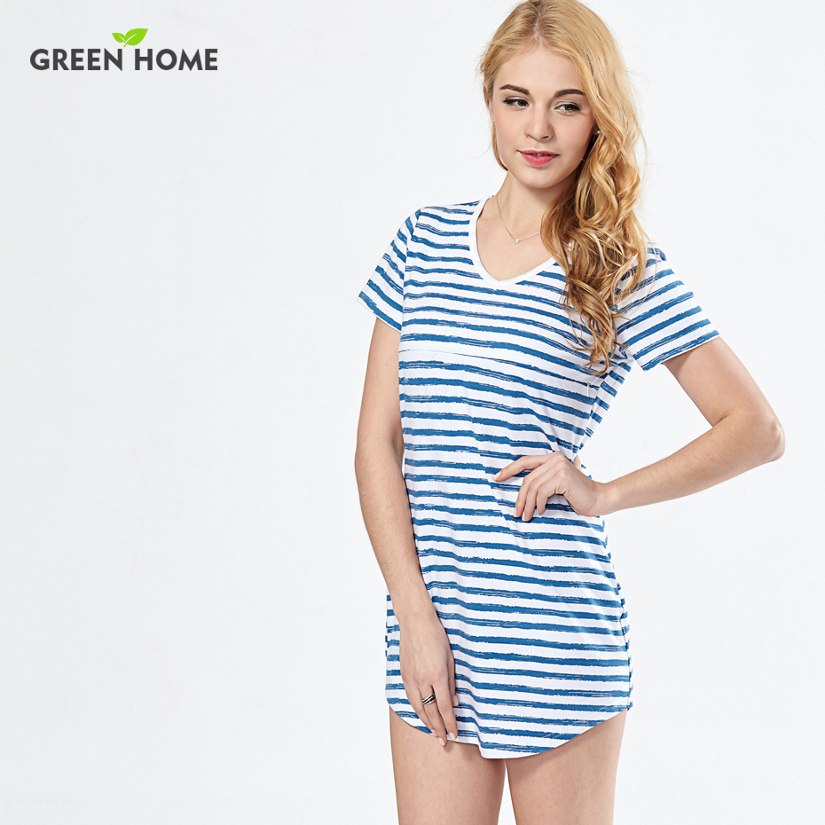 c52f70c7b1b5c Green Home Summer Beach Striped Nursing Dress Sexy Maternity Dresses  Clothing for Pregnancy Woman Short Breastfeeding Dress-in Dresses from  Mother & Kids on ...