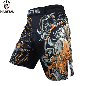 Shorts de boxe de muay thaï de conception originale de mma de gémeaux martiaux