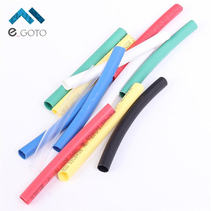 35Pcs 7 Colors 5mm Heat Shrink Tube 5pcs each Flame Retardant Polyolefins 2 1 Heat Shrinkable