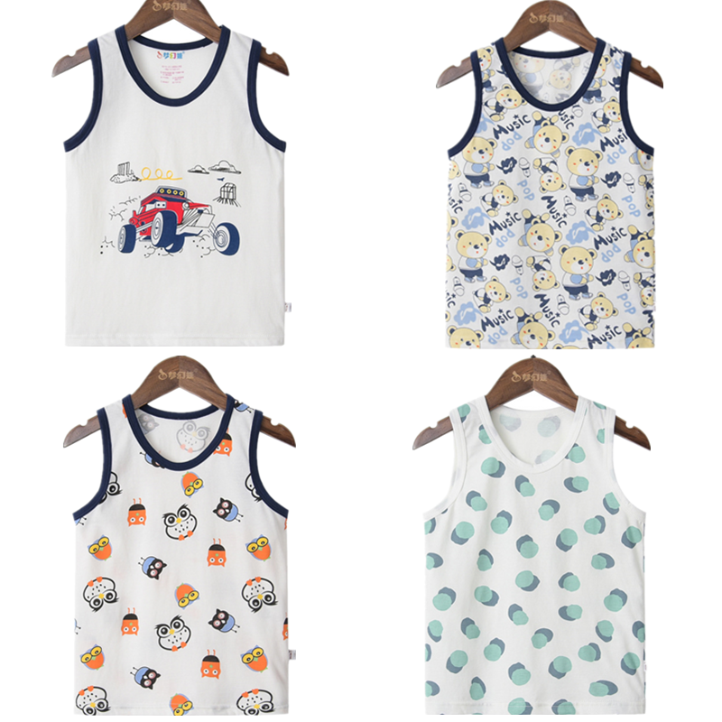 Boys T Shirt Fruit Watermelon Cotton Baby for Girl Boy Animals Fox Sleeveless Tops Tee 1 2 3 4 5 6years Summer Children Clothes