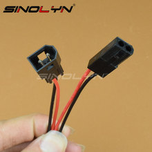SINOLYN Bi-xenon Projector Lens High Low Motor Solenoid Connecting Wiring Cable Male/ Female Headlight Retrofit DIY Accessories