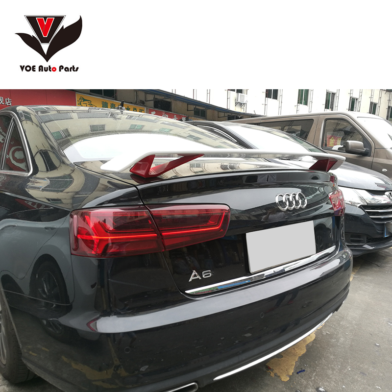 A4 A5 A6 Sporty Style ABS Plastic Unpainted Primer Car-styling Rear Wing Spoiler for Audi A4 A5 A6 2012 2013 2014 2015 2016 2017 high quality old style abs unpainted lamp tail spoiler roof spoiler wing fit for toyot prado for prado 2700 4000 grj120
