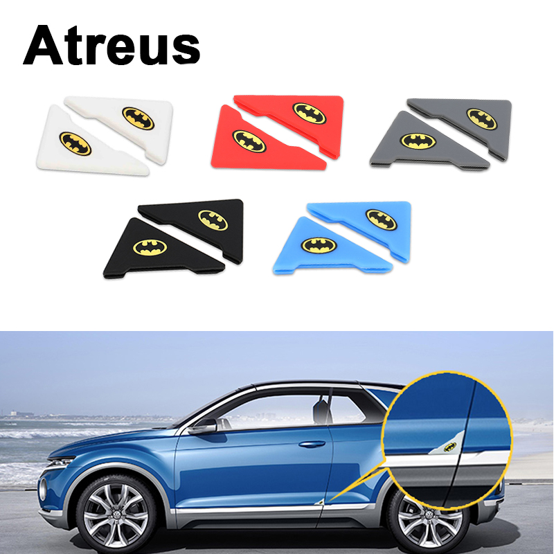 Atreus 2pcs Car Door Corner Crash Protection Cover Stickers For VW polo passat b5 b6 Mazda 3 6 cx-5 Toyota corolla Ford focus 2