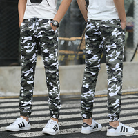 Hot 2016 Men Casual Pants Camouflage Slim Fit Army Camouflage Trousers Outdoor Sport Pants Hip Hop