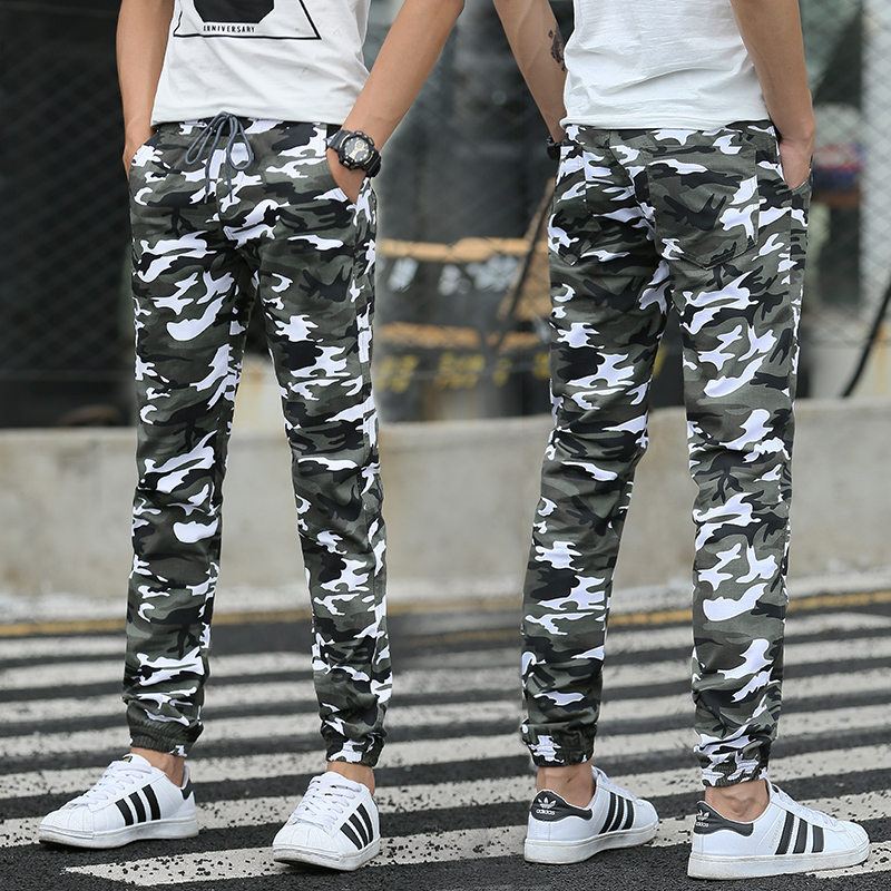 Hot 2016 Men Casual Pants Camouflage Slim Fit Army Camouflage Trousers Pants Hip Hop Sweatpants Military