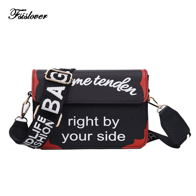 Luxury Brand Designer Women Shoulder Bags Letter print Strap Handbag Fashion Solid Women Flap Messenger Bags Bolsas Femininas