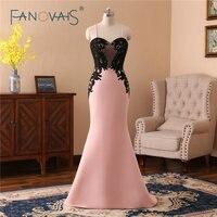 Black and Pink Bridesmaid Dresses Spaghetti Lace Maid Of Honor Dresses Vestido de festa Long Bridesmaid Dress Space Cotton