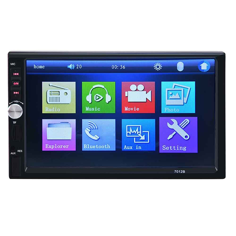 MALUOKASA 2 din 7 TFT HD Touch Screen Bluetooth Car MP5 Video Player Car Audio Radio FM USB SD AUX IN Support Rear View Camera 2 din 7 inch car player mp5 fm radio bluetooth rear camera usb tf aux touch screen