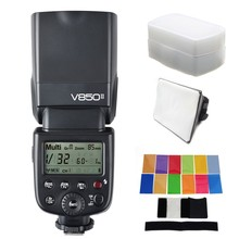 Godox V850II V850 II Built-in 2.4G Supports Master Slave Li-ion Battery GN60 for Canon Nikon Pentax Olympus etc. with GIFT KIT
