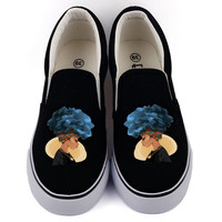 Top Brand African Print Canvas Shoes Men Flat Loafers Customize Graffiti Africa Design Casual Walking Shoe Couples Lazy Shoes