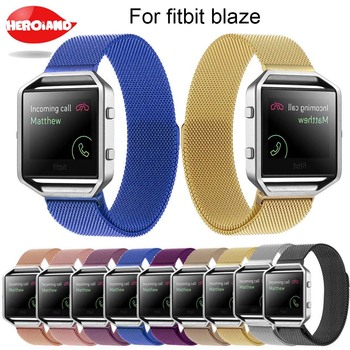 Milanese Loop Watch Band Stainless Steel Magnetic Closure Bracelet for Fitbit Blaze Smart Fitness wristband