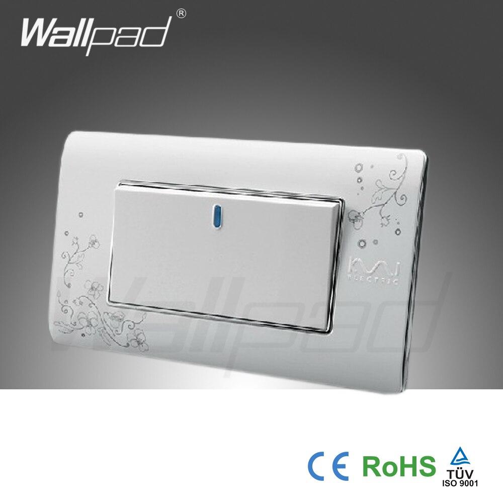 1 Gang 2 Way Wallpad Luxury Wall Switch Panel Light Switch Push ...