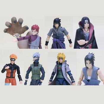 Naruto Figure SHF Figuarts Sasuke Naruto Namikaze Minato Hatake Kakashi Uchiha Itachi Gaara Collectible Action Figures Toys