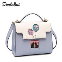 Duolaimi новая сумка 2019 модные женские сумки через плечо повседневные модные новые сумки через плечо