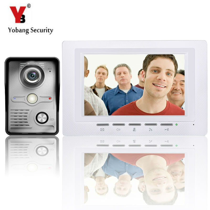 YobangSecurity 7 Inch Wire Video Door Phone Entry System Home Security Camera System Video Doorbell Intercoms 1-camera 1-monitor yobangsecurity video door intercom entry system 2 4g 9 tft wireless video door phone doorbell home security 1 camera 2 monitor