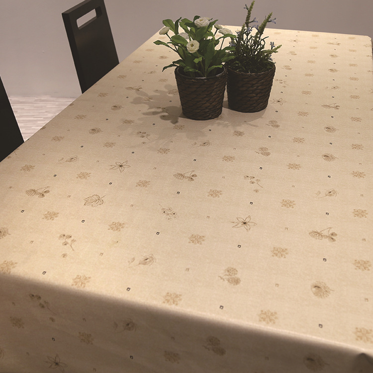 Pvc Plastic Table Cloth Green Leaves Oilproof Waterproof Scrub Dining Table Cover Nappe Coffee Tablecloth Banquet Home Decor