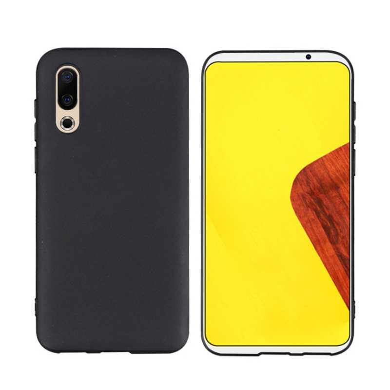 TPU Phone Case For Meizu 16S Pro7 16 Plus Note9 High Quality Black Phone Case Scrub Protection Cover Shell