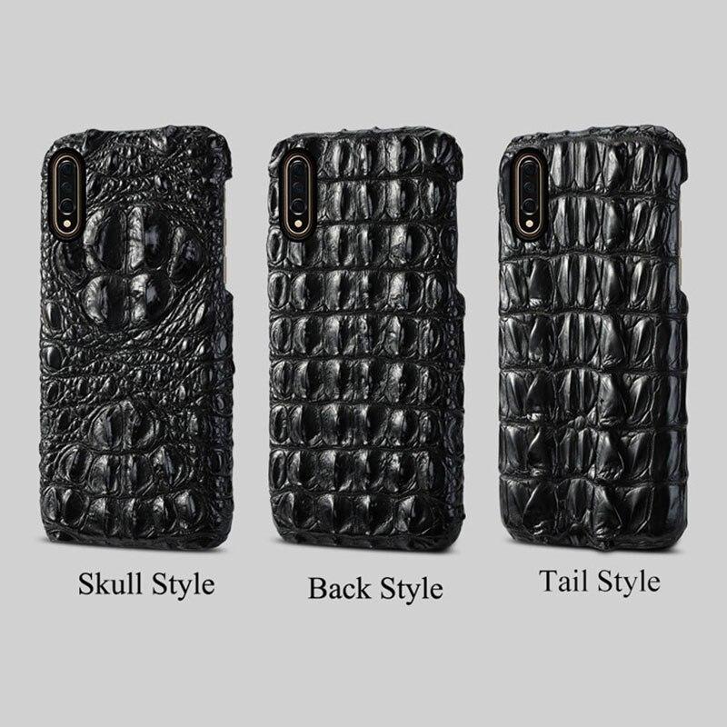 Étui en cuir de Crocodile d'origine pour Xiao mi 9 SE mi 8 couvertures arrière pour Xiao mi 8 explorer Lite A2 coque de luxe pour mi Note 7 rouge - 6