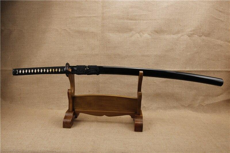 Épées de samouraï japonais à la main katana pleine Tang pliant en acier haute performance seppa de cuivre et fer tsuba