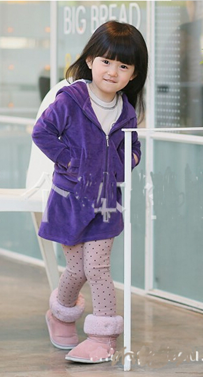3dfbf9858140 baby girl clothing new 2015 cute children clothes Purple long Sleeve ...