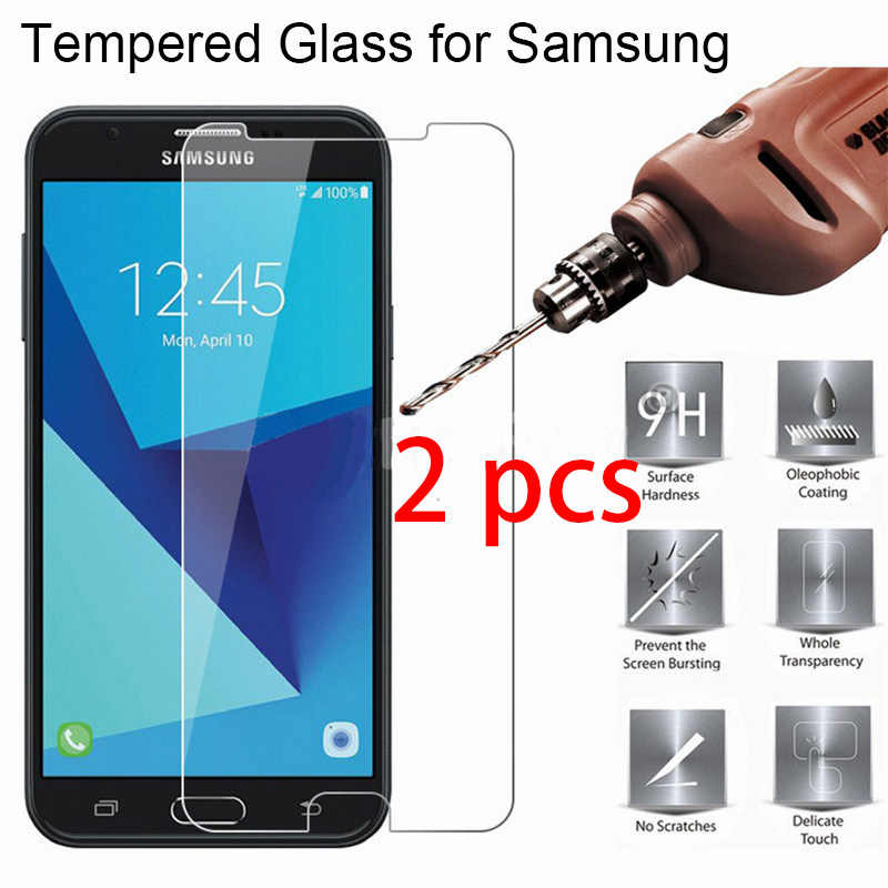 2pcs! Protective Glass for Samsung J7 2017 J5 2016 J3 2015 9H HD Toughed Screen Protector on Galaxy Grand Prime Plus