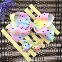 50pcs DHL Free shipping  Gradual change Printed grosgrain ribbon hair bow JoJo Siwa same paragraph Hairbow
