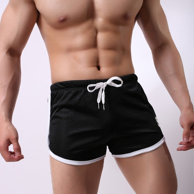 2018 Summer Mens Brand Jogger Sporting Shorts Slimming Men Black Bodybuilding Short Pants Male Fitness Gyms Shorts for workout