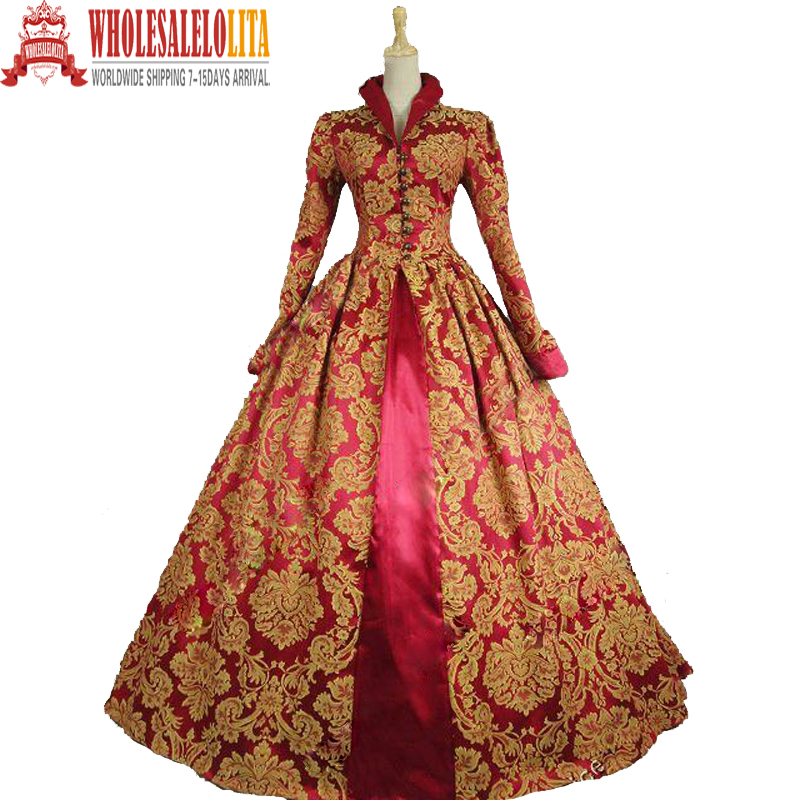Victorian Queen <font><b>Elizabeth</b></font> I / Tudor Gothic Jacquard <font><b>Dress</b></font> Game of Thrones Gown Theater Clothing Women PUNK <font><b>Dress</b></font>
