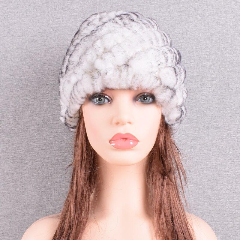 Raglaido Rabbit winter fur hat for Women Russian Real Fur Knitted Cap headgea Winter Warm Beanie Hats 2019 fashion brand LQ11279 40