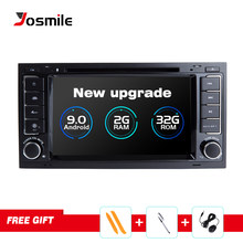 2din Car Radio GPS Android 9.0 Car DVD Multimedia Player For VW Volkswagen TouaregT4 Transporter T5 Multivan 2004-201 Navigation(China)