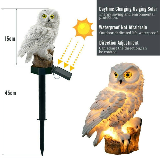Owl Lamp for Waterproof Garden Decoration